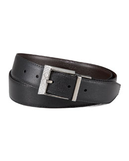 Burberry Reversible Check-Buckle Belt