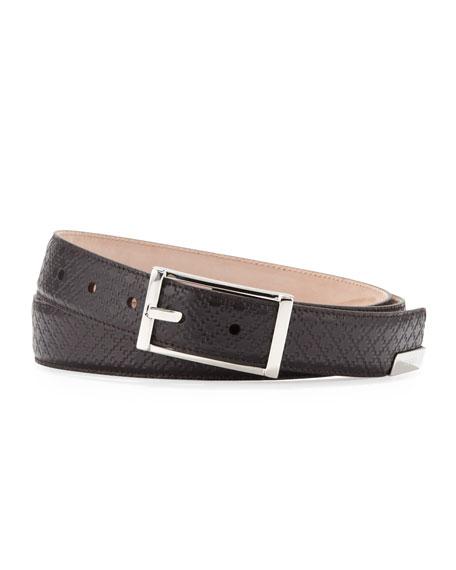 Rectangular-Buckle Belt