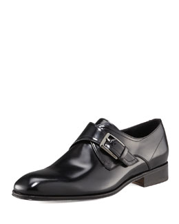 Salvatore Ferragamo Cipro Monk-Strap Loafer