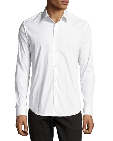 Stretch-Cotton Shirt, White