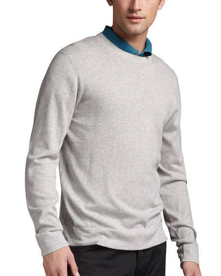 Merino Crewneck Sweater, Gray