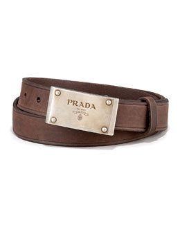 Prada Logo-Plaque Belt