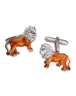 Jan Leslie Lion Cuff Links