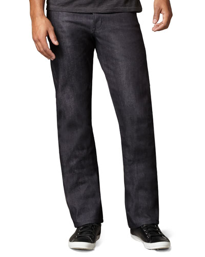 Naked and Famous Denim SlimGuy Broken-Twill Indigo Jeans