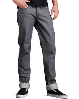 Naked and Famous Denim WeirdGuy Gray Selvedge Jeans