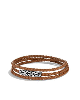David Yurman Chevron Triple-Wrap Bracelet in Camel