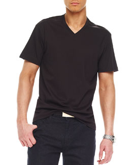 Michael Kors  Liquid Jersey Tee, Black