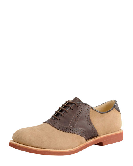 Nubuck Saddle Shoe, Tan