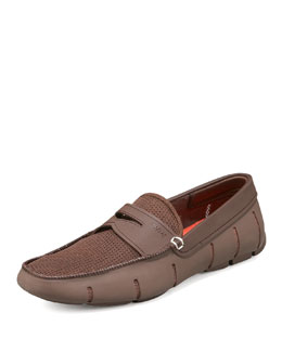 Swims Rubber Penny Loafer, Brown