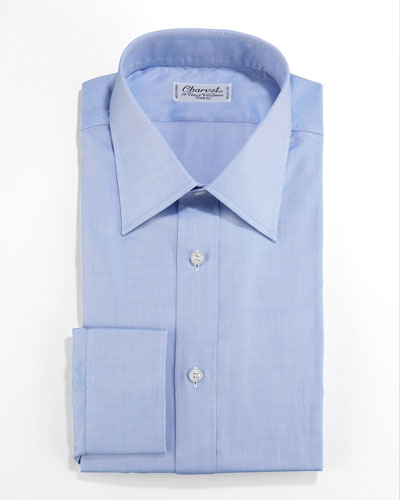 Charvet Textured Dress Shirt, Blue