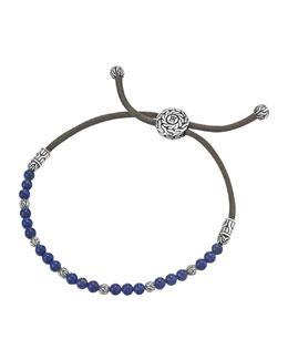 John Hardy Lapis Bead Bracelet
