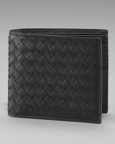 Bottega Veneta Basic Woven Wallet, Black