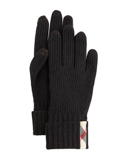 Burberry Touch-Screen Cashmere Glove
