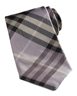 Burberry Basic Check Tie, Lavender