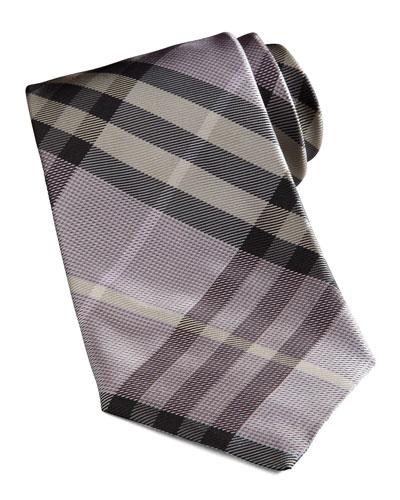 Basic Check Tie, Lavender