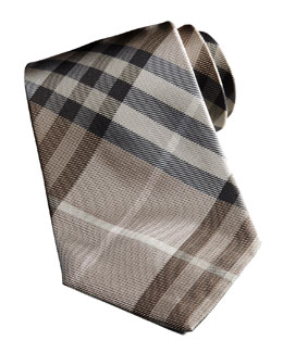 Burberry Basic Check Tie, Camel