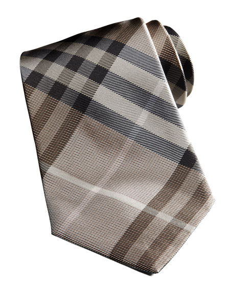 BASIC CHECK TIE, CAMEL