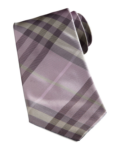 Basic Check Tie, Pink