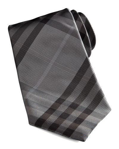 Basic Check Tie, Gray