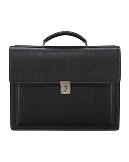 Salvatore Ferragamo Revival One-Gusset Briefcase, Black