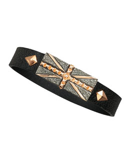 Stephen Webster Union Jack Leather Bracelet
