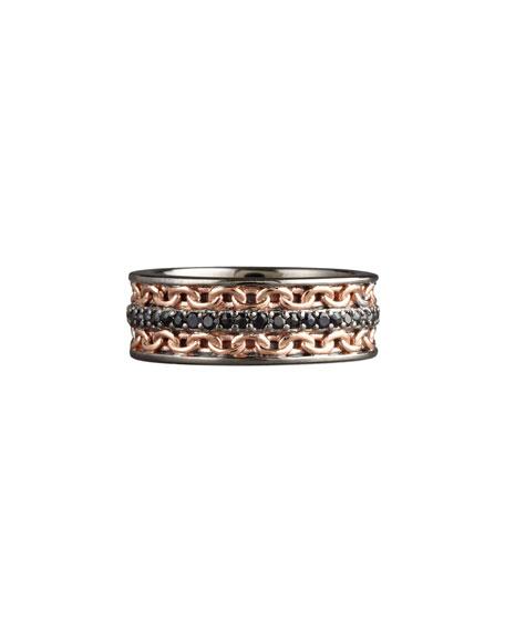 Black Sapphire Chain Ring