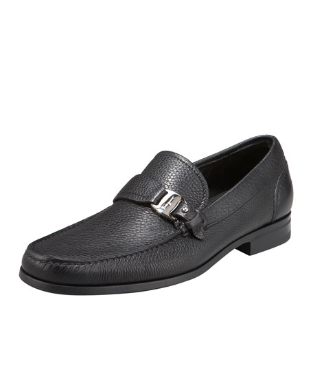 Salvatore Ferragamo Bravo Buckle Loafer, Black