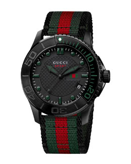 Gucci Sport XL Watch, Black
