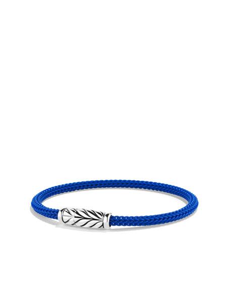 Maritime Bracelet, Blue Rubber