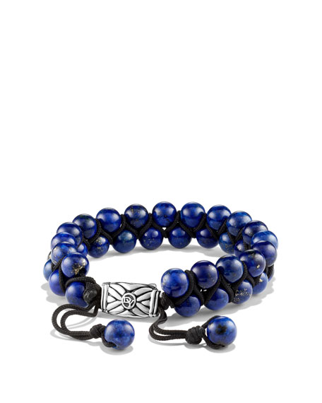 Spiritual Beads Two-Row Bracelet with Lapis Lazuli