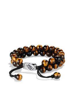 David Yurman Spiritual Beads Two-Row Bracelet with Tiger's Eye