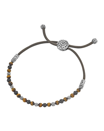 John Hardy Tiger's Eye Bead Bracelet