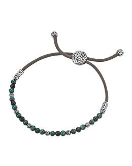John Hardy Onyx & Malachite Cord Bracelet