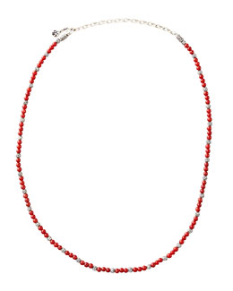 John Hardy Mini Coral Bead Necklace