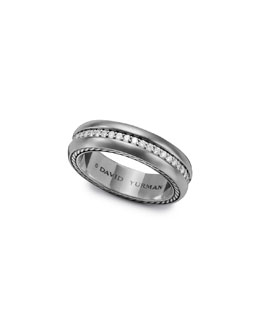 David Yurman Streamline Narrow Band Ring with Diamonds