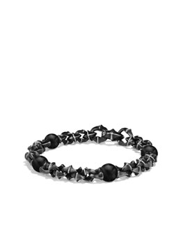 David Yurman Armory Medium Link Bracelet with Black Onyx