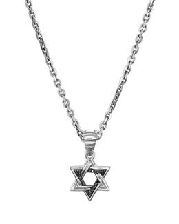John Hardy Star of David Necklace