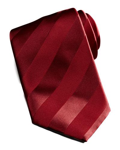 Brioni New Avanti Striped Tie, Red