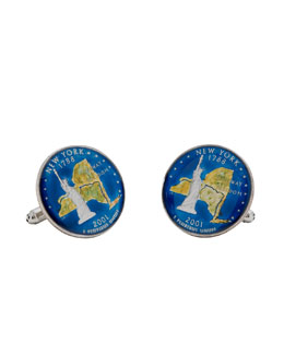 Penny Black 40 New York Quarter Cuff Links