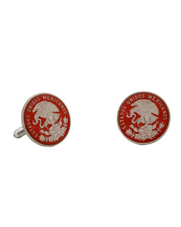 Penny Black 40 Mexican Coin Cuff Links