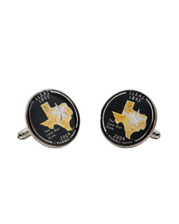 Penny Black 40 Texas Quarter Cuff Links