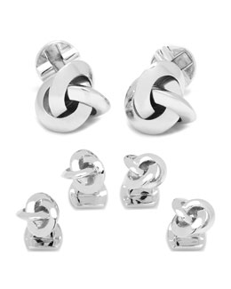 Ravi Ratan Knot Cuff Links & Studs Set
