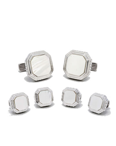 Cufflinks Inc. Mother-of-Pearl Cuff Links & Stud Set