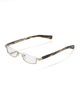 Eyebobs Peek Performer Reading Glasses, Matte Silver