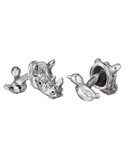 Robin Rotenier Rhino & Bird Cuff Links