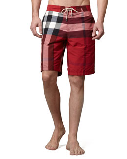 Burberry Brit Check Swim Trunks