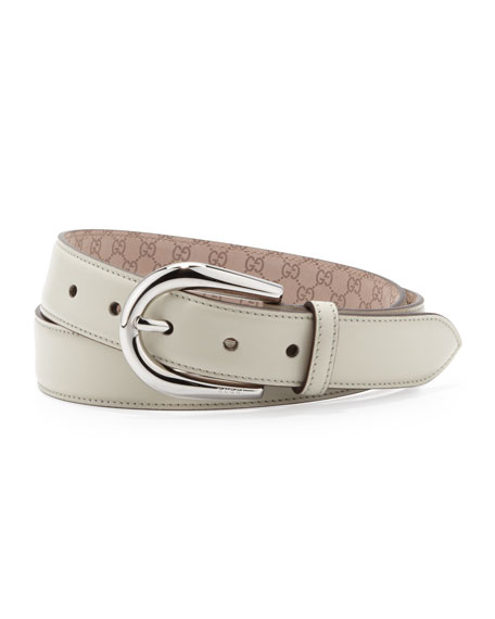 Leather Belt, Ice