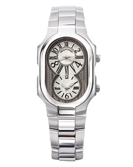 Philip Stein Dual Time Zone Bracelet Watch