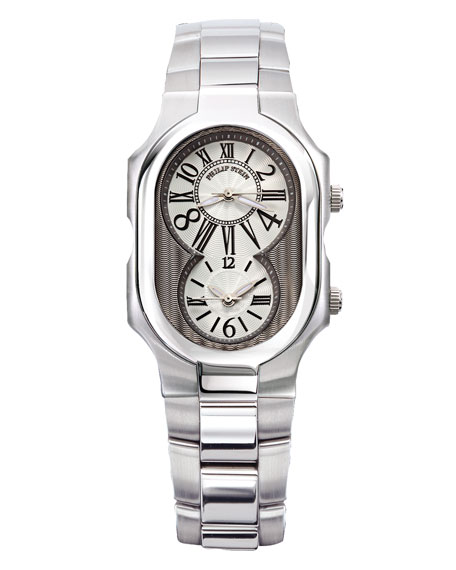 Dual Time Zone Bracelet Watch