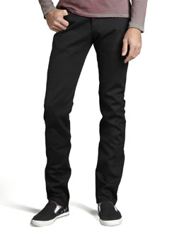Naked and Famous Denim WeirdGuy Black Selvedge Jeans